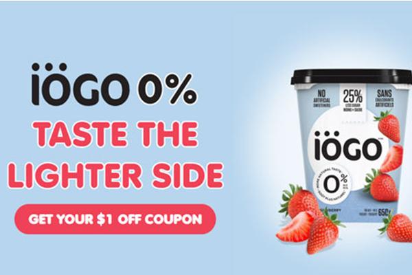 Free iOGO 0% Yogurt Coupon